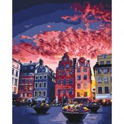 Картина за номерами Ідейка Канікули в Стокгольмі 50 x 40 (КНО3558)
