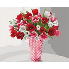 Картина по номерам Идейка Разнообразие тюльпанов 40х50 (КНО3062)