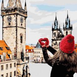Картина за номерами Ідейка З любов'ю в серці 40х40 (КНО3523)