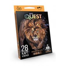 Карточная квест-игра Dankotoys Best Quest Животные BQ-01-02 RUS