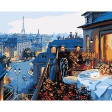 Картина по номерам Идейка Вид на Париж 40х50 (КНО1107)