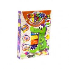 Набор для творчества Dankotoys Пластилиновое мыло Крокодил 6 цветов (укр) (PCS-03-01U,02)