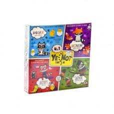 Карточная игра Dankotoys YES NOT ДаНетки 4 в 1 YEN-02-01U (УКР)