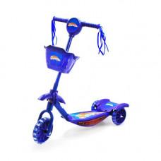 Самокат 3-х колесный  Best Scooter с музыкой (синий) КВ-006 (ENG)
