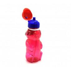 """Бутылочка для воды """"Мишка"""" с пипеткой, 500 мл (красная) 036"""