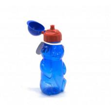 """Бутылочка для воды """"Мишка"""" с пипеткой, 500 мл (синяя) 036"""