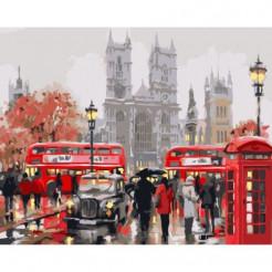 Картина за номерами ідейка Ранок в Лондоні (КНО2149)