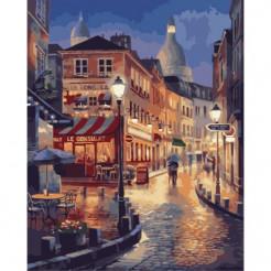 Картина за номерами Ідейка Прогулянка по вечірньому Парижу  (КНО2116)