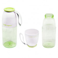 Спортивная бутылка для воды 2 в 1 Lindo 450 мл  салатовая 8557