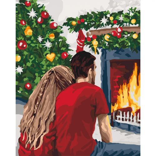 Картина по номерам Идейка Рождественская романтика   КНО4640