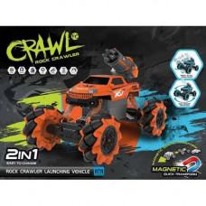 Машина на радиоуправлении JINHUI Crawl  стреляет снарядами оранжевая 338-651