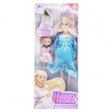 Кукла беременная JIA YU TOY Happy Mother с ребёнком (голубой) (858A1)
