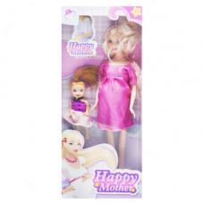 Кукла беременная JIA YU TOY Happy Mother с ребёнком (малиновый) (858A1)