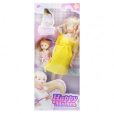 Кукла беременная  JIA YU TOY Happy Mother с ребёнком (лимонный) (858A1)