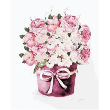 Картина по номерам Art Story Букет чайных роз AS0347
