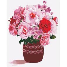 Картина по номерам Art Story Розовый букет AS0354