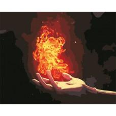 Картина по номерам Art Story Пламя на ладони AS0583