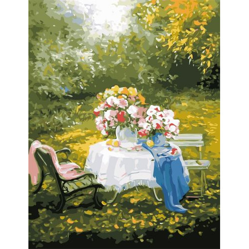 Картина по номерам Art Story Отдых в саду AS0649