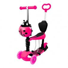 Самокат детский Best Scooter ScooTer 5 в 1 розовый КВ-008