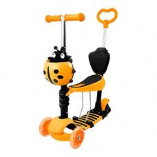 Самокат детский Best Scoote ScooTer 5 в 1 оранжевый  КВ-008