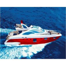Картина по номерам Brushme Яхта 40Х50 (GX7294)