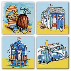 Картина за номерами Ідейка ідейка полиптих: Літні пригоди  (KNP016)
