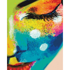 Картина по номерам Brushme Женщина в красках  (PGX21715)