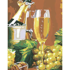 Картина по номерам Brushme Виноград с шампанским ★★★ (PGX30459)