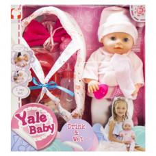 Кукла-пупс в розовом Yale Baby (YL1811E)