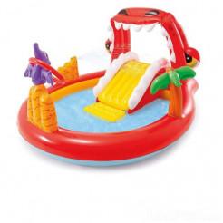 Надувний ігровий центр з басейном Intex Щасливий Діно (57163)