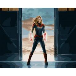 Картина за номерами Brushme Капітан Марвел 50 x 40 (GX27934)