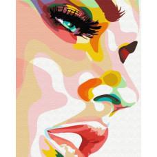 Картина по номерам Brushme Профиль в красках  (GX34139)