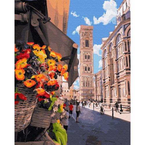 """Картина по номерам """"Цветочный киоск Флоренции"""" ★★★★ GX34206"""