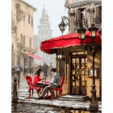 Картина за номерами Brushme Лондонське кафе 40х50 (GX8089)