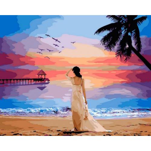 """Картина по номерам """"Тропический рассвет"""" ★★★ GX29454"""