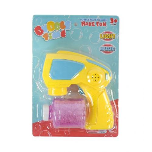 Пистолет с мыльными пузырями (желтый) 652