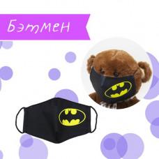 Маска защитная Miravox Бэтмен 3-5 лет (черная) (mask10)