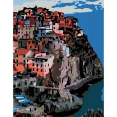 Картина по номерам Rosa Италия, г. Манарола  35х45 (N00013170)