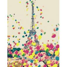 Картина по номерам Rosa  Яркий Париж 45 x 35 N0001385
