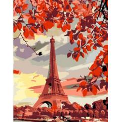 Картина за номерами Rosa Эйфелева вежа 45x35 (N00013345)