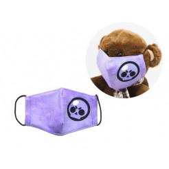 Многоразовая 4-х слойная защитная маска Miravox BRAWL STARS Череп размер 3, 7-14 лет (mask2)