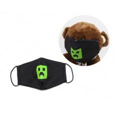 Многоразовая 4-х слойная защитная маска Miravox Майнкрафт Криппер размер 3, 7-14 лет (mask2)