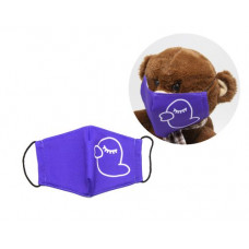 Многоразовая 4-х слойная защитная маска Miravox Утка размер 3, 7-14 лет (фиолетовая) (mask2)