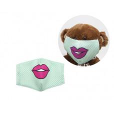 Многоразовая 4-х слойная защитная маска Miravox Губы размер 3, 7-14 лет (mask2)