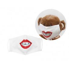 Многоразовая 4-х слойная защитная маска Miravox Губы с брекетами размер 3, 7-14 лет (mask2)