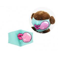 Многоразовая 4-х слойная защитная маска Miravox Bubble Gum размер 2, 3-6 лет (бирюзовая) (mask3)