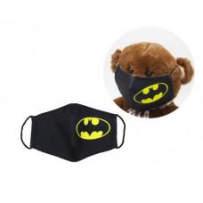 Многоразовая 4-х слойная защитная маска Miravox Бэтмен  размер 2, 3-6 лет (mask3)