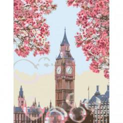 Картина по номерам Rosa  Цветущий Биг-Бен, Лондон 35х45 (N00013437)