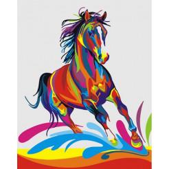Картина по номерам Brushme Радужный конь  (GX26197)