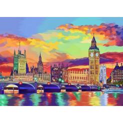 Картина по номерам Dankotoys  Красочный Лондон (KpN-01-08U)